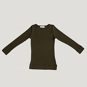 Jamie Kay - Cotton Modal Essential Henley Top - Olive