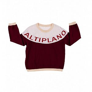 Tiny Cottons Altiplano Sweater - Pink/Red