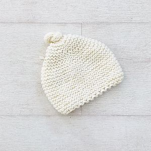 Knitted By Nana Beanie - Cream