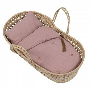 Numero 74 Doll Basket Bed Linen - Dusty Pink