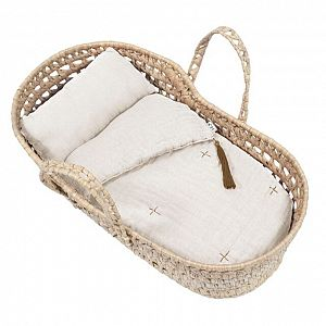 Numero 74 Doll Basket Bed Linen - Natural