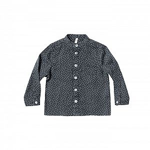 Rylee and Cru Dot Mock Neck Shirt - Midnight