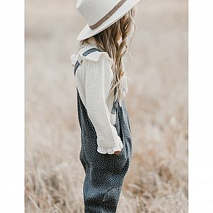 Rylee and Cru Pioneer Dot Overall - Midnight
