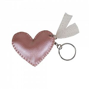 Numero 74 Iridescent Heart Keychain - Dusty Pink