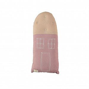 Camomile London Petit House Cushion - Blush/Peach