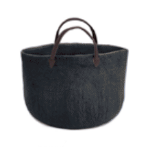 Muskhane Felt Plain Shopping Bag / Basket - Stormy Grey