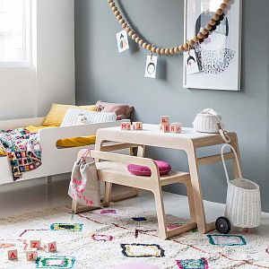RAFA Kids B Table Without Drawers - Natural