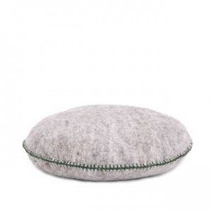 Muskhane Felt Round Nomade Cushion - Light Stone