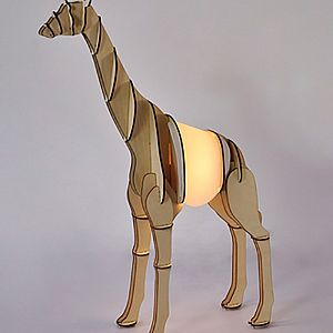 Timber Lamp - Giraffe