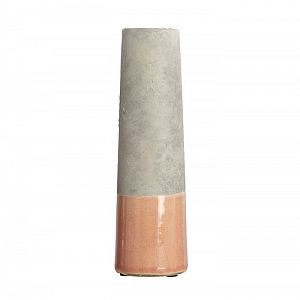 House Doctor Glazed Cement Vase - Pink