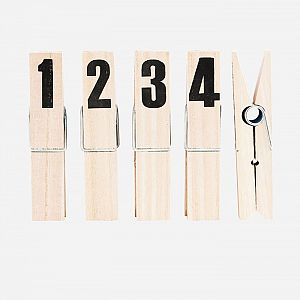 House Doctor Numbered Pegs - Set of 4