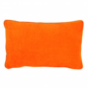 Velvet Lumbar Cushion - Orange