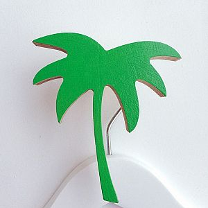 Palm Tree Wall Hook - Groovy Green
