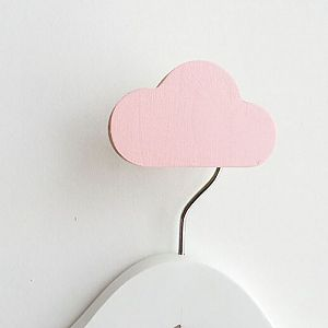 Cloud Wall Hook - Ballerina Pink